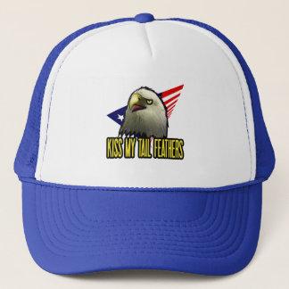 Casquette Embrassez mon Américain Eagle de plumes de queue