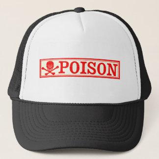 Casquette Étiquette vintage de crâne et de poison d'os
