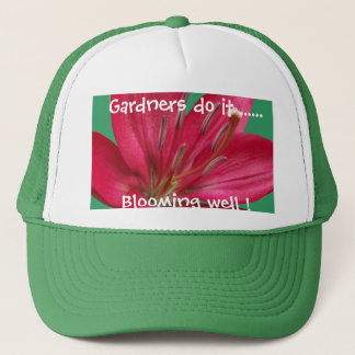 Casquette Fin rose de fleur de fleur de lis