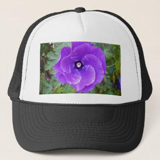 Casquette Fleur mauve-foncé de ketmie,
