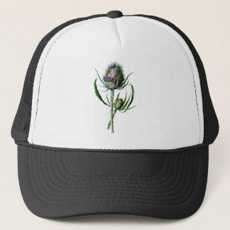 Casquette Fleur sauvage d'antiquité de chardon d'écossais du