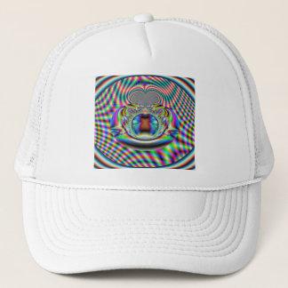 Casquette Fractale psychédélique de rayons laser