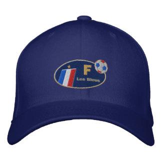 Casquette français de logo de drapeau de bleus de