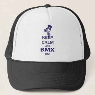 Casquette Gardez le calme et le BMX DESSUS