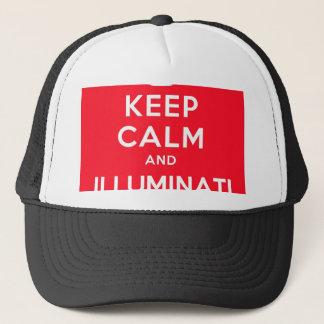 Casquette Gardez le calme et l'Illuminati