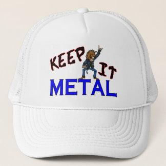 Casquette Gardez-le métal