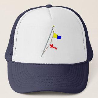 Casquette Grue de drapeau de signal nautique du numéro 58