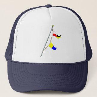 Casquette Grue de drapeau de signal nautique du numéro 95