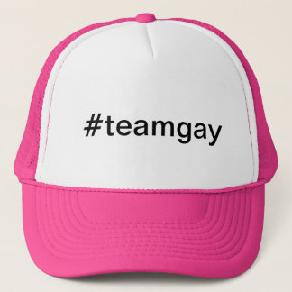 Casquette hashtag #teamgay
