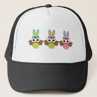 Casquette Hiboux heureux de lapin de Pâques