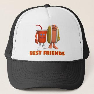 Casquette Hot-dog et soude de meilleurs amis