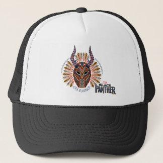 Casquette Icône tribale noire de masque de la panthère |