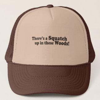 Casquette Il y a un Squatch en ces bois ! Poussée multiple