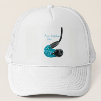 Casquette in ear top headphone blue new