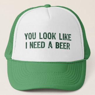 Casquette J'ai besoin d'une bière