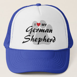 Casquette J'aime (coeur) mon berger allemand Pawprint