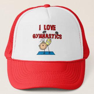 Casquette J'aime des T-shirts et des cadeaux de gymnastique
