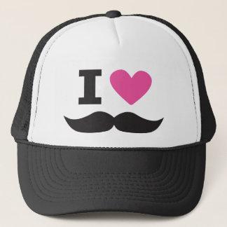 Casquette J'aime la moustache - rose