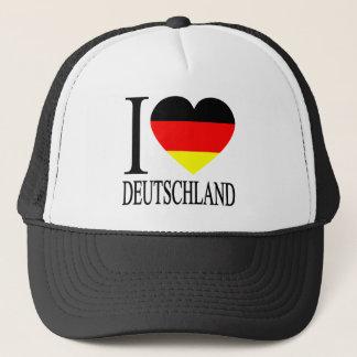 Casquette J'aime le coeur allemand de drapeau du Deutschland