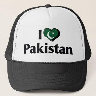 Casquette J'aime le drapeau du Pakistan