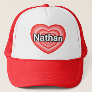 Casquette J'aime Nathan. Je t'aime Nathan. Coeur