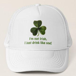 Casquette Je ne suis pas irlandais, je bois juste comme un !