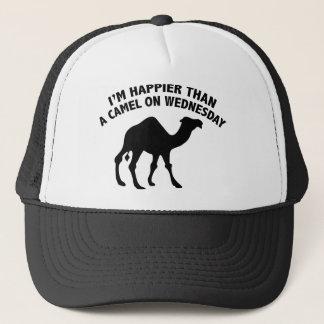 Casquette Je suis plus heureux qu'un chameau le mercredi