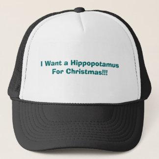 Casquette Je veux un hippopotame pour Noël ! ! !