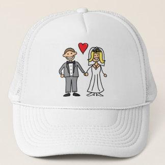 Casquette Jeunes mariés (ajoutez votre propre texte)