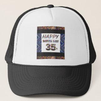 Casquette joyeux anniversaire happybirthday 35 trente-cinq