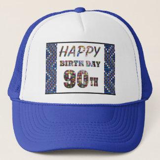 Casquette joyeux anniversaire happybirthday 90
