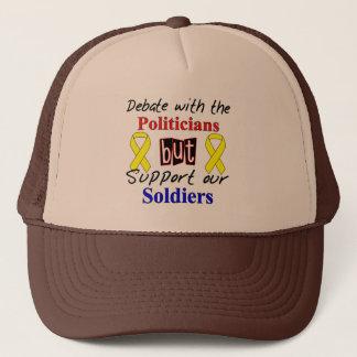 Casquette La discussion avec les politiciens mais