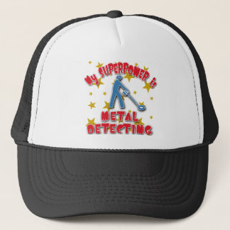 Casquette La ma superpuissance est détection en métal