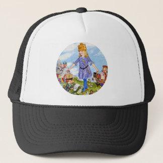 Casquette La Reine Alice essaye sa couronne au pays des
