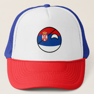 Casquette La Serbie Geeky tendante drôle Countryball