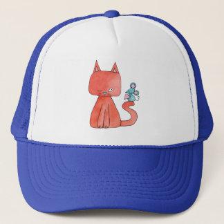 Casquette La souris mignonne aime le chat de Kitty