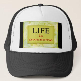 Casquette La vie est citation positive impressionnante