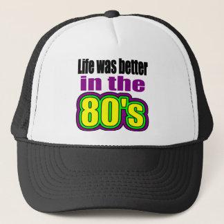 Casquette La vie était meilleure pendant les années 80