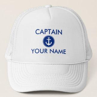 Casquette L'ancre bleue nautique personnalisent le capitaine