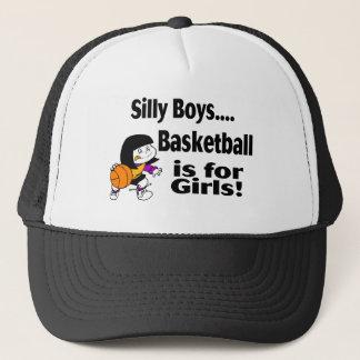 Casquette Le basket-ball idiot de garçons est pour des