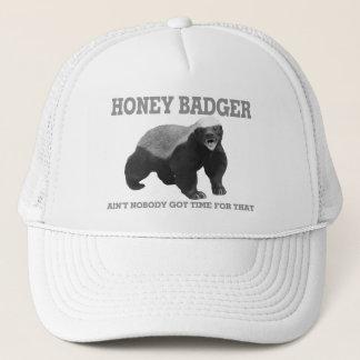 Casquette Le blaireau de miel n'est personne heure obtenue
