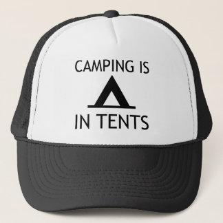 Casquette Le camping est dans le calembour drôle de tentes