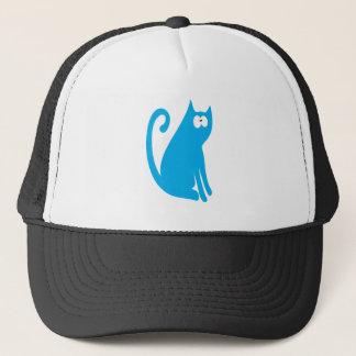 Casquette Le chat reposent et regardent les yeux bleus de