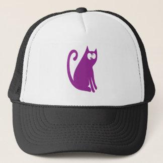 Casquette Le chat reposent et regardent les yeux pourpres de