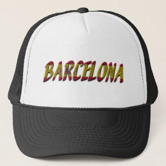 Casquette Le drapeau de Barcelone Espagne colore la