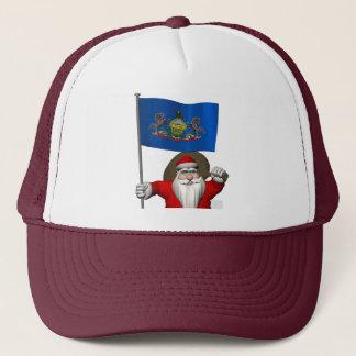Casquette Le père noël avec le drapeau de la Pennsylvanie