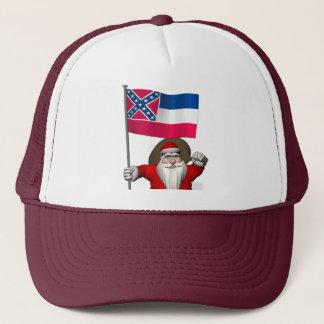 Casquette Le père noël avec le drapeau du Mississippi