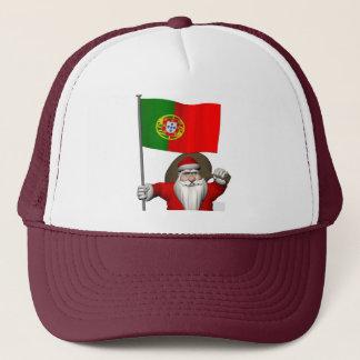 Casquette Le père noël avec le drapeau du Portugal