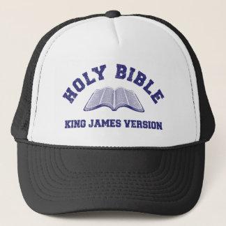 Casquette Le Roi de Sainte Bible James Version dans le bleu