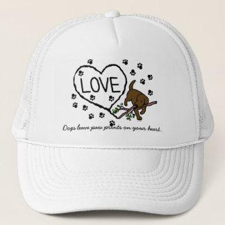 Casquette Le sable de Labrador de chocolat marque avec des